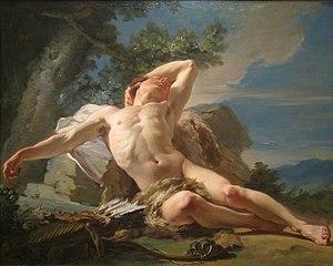 Nicolas-Guy Brenet - Nicolas-Guy Brenet, Sleeping Endymion, 1756. Worcester Art Museum, Massachusetts, USA