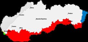 Slovak–Hungarian War - Image: Slovakia border Hungary
