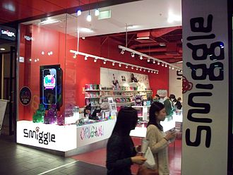 Smiggle - A former Smiggle outlet within Melbourne Central, located in Melbourne CBD. Closed in early-2013, a larger store opened later that year within the same centre.