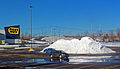 Snow pile after February 2013 nor'easter in parking lot at Crystal Run Galleria, outside Middletown, NY.jpg