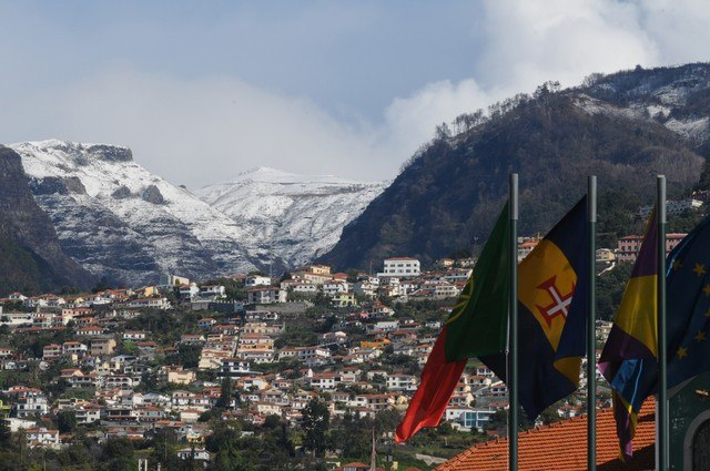Snow seen from Funchal