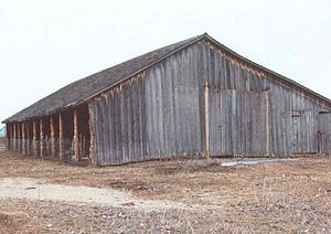 Sod House Ranch - Restored 1880s barn at the Sod House Ranch