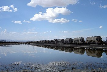 Soda train, Magadi, Kenya