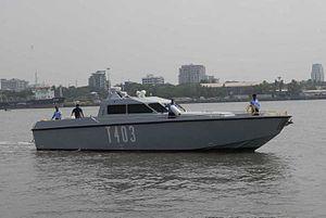 Solas Marine fast interceptor boat - Image: Solas Marine fast interceptor craft T 403