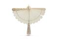 Solfjäder, vit. Foto till boken: Ett sekel av dräkt och mode ur de Hallwylska samlingarna - Hallwylska museet - 89353.tif