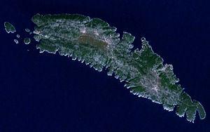 Šolta - Satellite image of Šolta