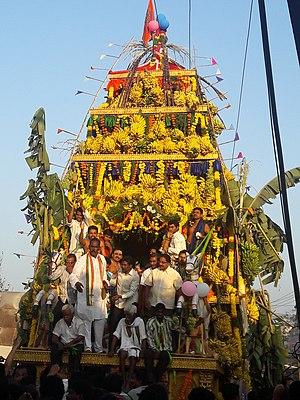 Somarama - temple chariot during Mahasivarathiri festival