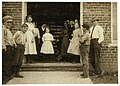 Some samples (not all) of the children in the 'Kindergarten Factory' run by the High Point and Piedmont Hosiery Mills, High Point, N.C. Every child in these photos worked; I saw them at work LOC nclc.02689.jpg