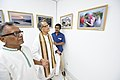 Somendranath Bandyopadhyay Accompanied By Tarak Sengupta Visiting 1st Four Ps Group Exhibition - Kolkata 2019-04-17 5481.JPG