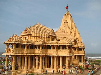 Conversion of non-Islamic places of worship into mosques - Front view of the present Somnath Temple.
