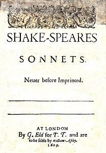 Sonetti Shakespeare Wikipedia