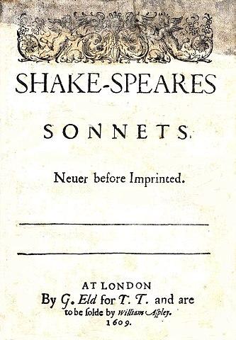 Титульная страница издания сонетов Шекспира 1609 года.