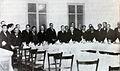 """Sopar d'homenatge a Iu Pascual a l'Hotel del Parc d'Olot, amb motiu de la concessió del Premi """"Madona Bruna"""" del concurs """"Montserrat vist pels artistes catalans"""". (Foto arxiu Dou).jpg"""