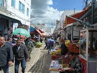 North West Tunisia - A market in the center of the city of Béja.