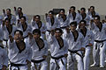 South Korean martial arts specialists scream during a military parade Oct. 1, 2013, in Seoul, South Korea 131001-D-BW835-1435.jpg