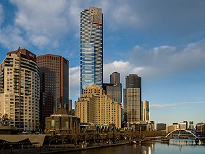 Southbank, Victoria - The Southbank skyline and Yarra River