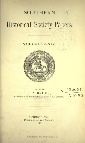 File:Southern Historical Society Papers volume 24.djvu