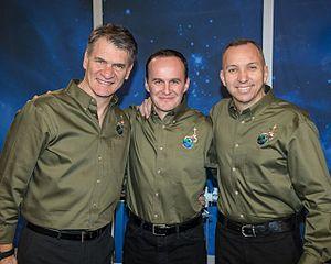 Soyuz MS-05 - Image: Soyuz MS 05 crew