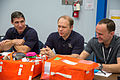Soyuz TMA-10M crew during an emergency scenario training session at JSC.jpg