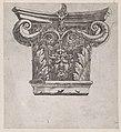 Speculum Romanae Magnificentiae- Capital with peapod volutes and satyr head MET DP870187.jpg