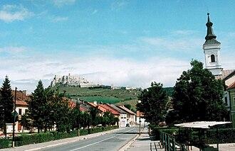 Spišské Podhradie - Image: Spišské Podhradie a hrad