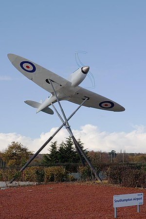 Southampton Airport - Near full-scale model Supermarine Spitfire prototype K5054 at Southampton Airport
