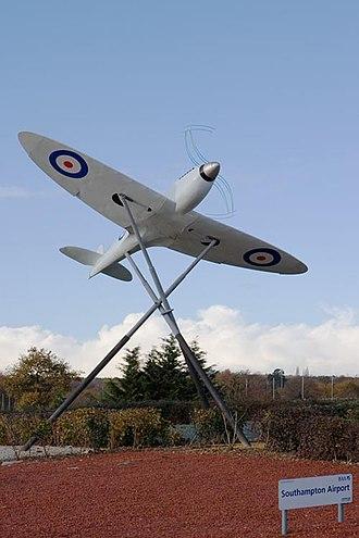 Southampton Airport - Near full-scale model Supermarine Spitfire prototype K5054 at Southampton Airport