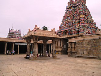 Ranganathaswamy Temple, Srirangam - The hall, located in front of Thayar shrine, where Kambar is believed to have recited his works on Kamba Ramayanam