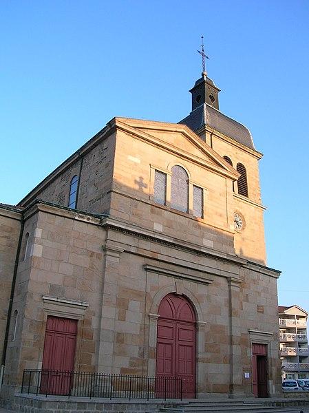 St-Clément church in Le Chambon-Feugerolles (Loire, France).