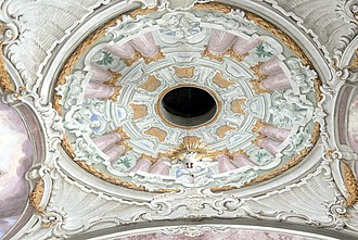 Pentecost - Holy Ghost hole, Saints Peter and Paul Church in Söll