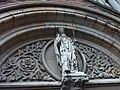 St. Patick sculpture at his namesake church, Donegall Street, Belfast.JPG