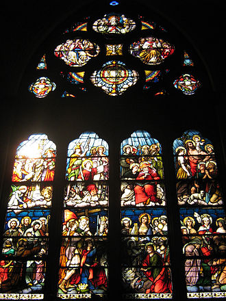Franz Mayer & Co. - Great window in the choir gallery of St. Mary – St. Catherine of Siena Parish (Charlestown, MA, USA)