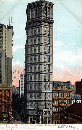 Het St. Paul Building in 1907