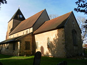 St Margaret's Church, Ifield - The church from the east-southeast