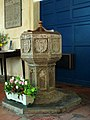 St Mary's church - C15 baptismal font - geograph.org.uk - 1252114.jpg