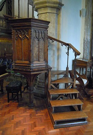 St Mary's Church, Hitchin - The pulpit dates from about 1500