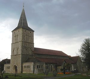 Grade II* listed buildings in West Sussex - Image: St Michael and All Angels Church, Southwick, Adur (Io E Code 297346)