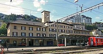 St. Moritz - St. Moritz train station.