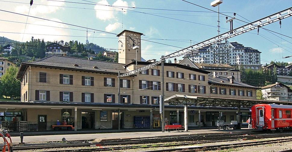 St Moritz train station