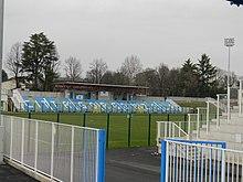 Interno dello stadio di Gorgonzola nel marzo 2015.
