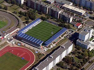 Městský stadion (Mladá Boleslav) - Image: Stadion fk mb letecky pohled