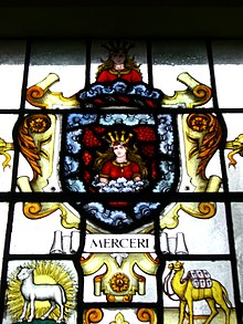 Stained glass - Worshipful Company of Mercers crest.jpg