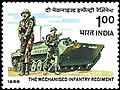 Stamp of India - 1988 - Colnect 165238 - The Mechanised Infantry Regiment.jpeg