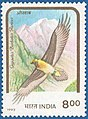 Stamp of India - 1992 - Colnect 164336 - Lammergeier Gypaëtus barbatus ssp aureus.jpeg
