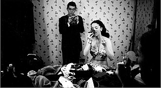 Stanley Kubrick - Kubrick with showgirl Rosemary Williams in 1949