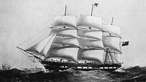 SS Suffolk - The British ship Suffolk in 1881 brought 488 Azores Islanders to Hawaii.