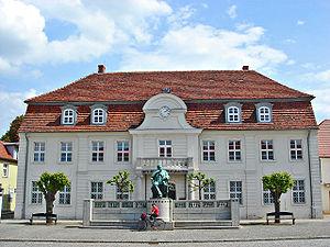 Stavenhagen - Fritz-Reuter-Literaturmuseum at the market square of Stavenhagen