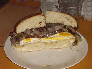 Steak and eggs - Image: Steak and egg sandwich