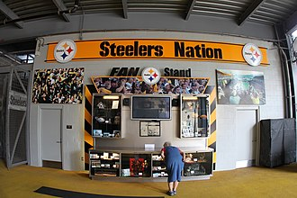 "Steeler Nation - A 2009 ""Steelers Nation"" display at Heinz Field."
