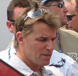 Stefan Johansson 2009 Indy 500 Carb Day.JPG